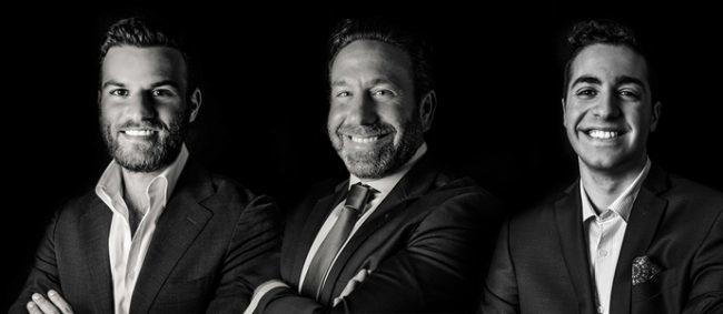 Kassin Sabbagh Realty's Bunny Escava, Dan Myers and Jared Rahmanan