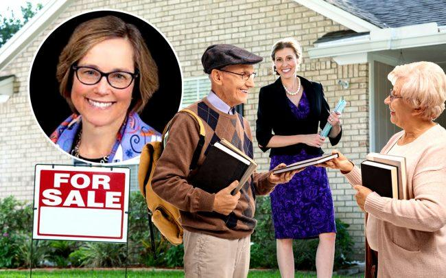 Lasell Village president Anne Doyle (inset) (Credit: iStock)