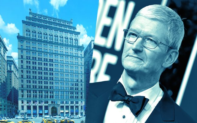11 Penn Plaza and Apple CEO Tim Cook (Credit: Vornado, Getty Images)
