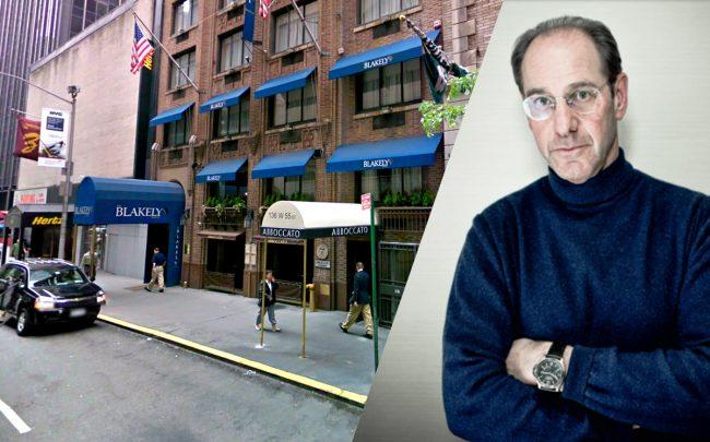 The Blakely Hotel at 136 West 55th Street and Richard Born (Credit: Google Maps, Richard Born by Studio Scrivo)