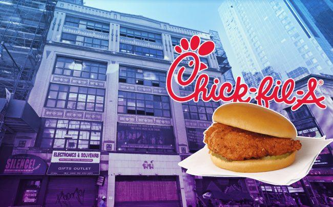 675 Eighth Avenue (Credit: Google Maps and Chik-fil-A)
