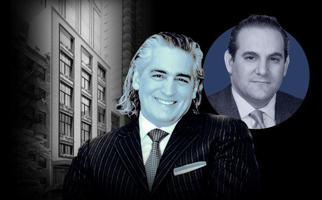 From left: a rendering of 3 Sutton Place, Joseph Beninati and Gamma Real Estate's Jonathan Kallikow