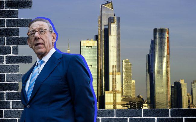 Related Companies chairman Stephen Ross and Hudson Yards (Credit: Getty Images)