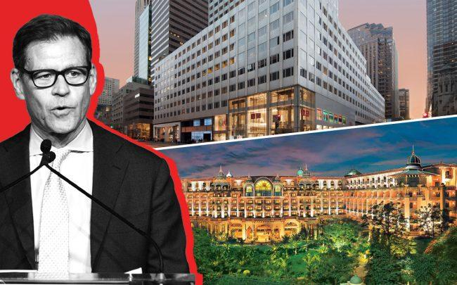 Brookfield's largest-ever $15B property fund has invested in properties from New York (666 Fifth Avenue) to Bangalore (the Leela Palace hotel) (Credit: Brookfield, Getty Images, Leela)
