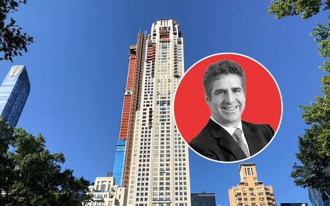 220 Central Park South and Richard Leibovitch, co-founder of Arel Capital (Credit: Arel Capital)
