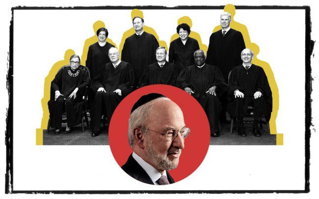 Clipper Equity's David Bistricer (inset) and the US Supreme Court (Credit: RealInsight and Getty Images)