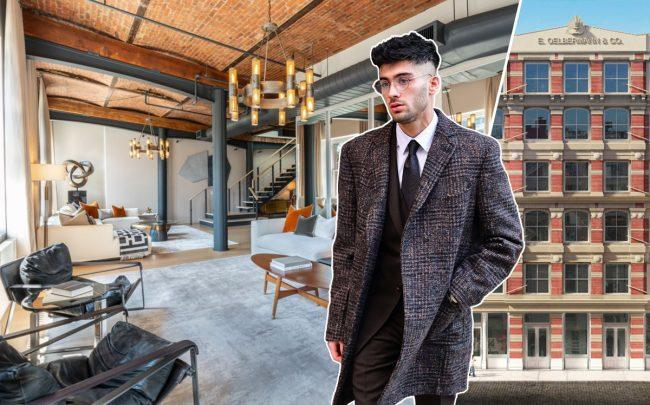 Zayn Malik and the penthouse at 57 Greene Street (Credit: Getty Images and StreetEasy)