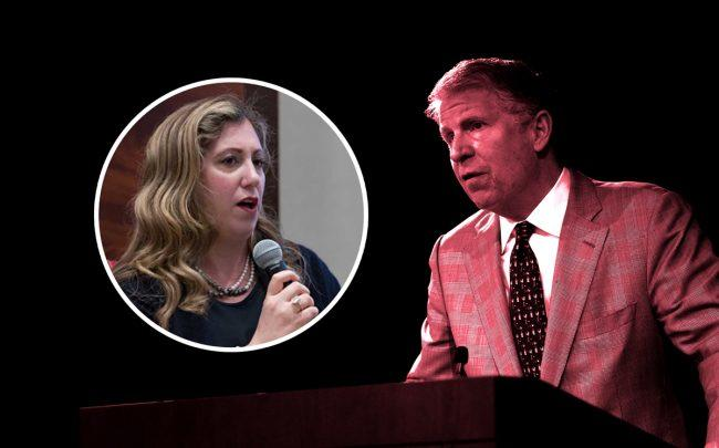 Diana Florence (inset) and Cy Vance (Credit: Getty Images, Cornell)