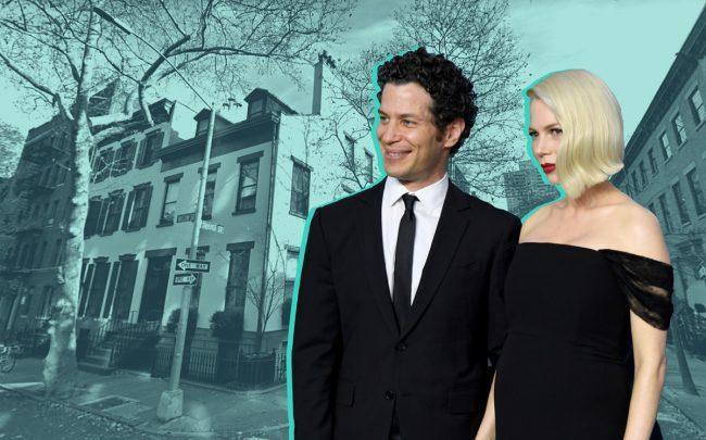 Michelle Williams and Tommy Kail and their Brooklyn Heights townhouse (Credit: Getty Images, Google Maps)