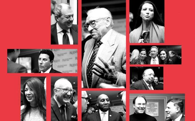 Clockwise from top left: Jim Whelan, Larry Silverstein, Helena Durst, Teodora Zobel, Jonathan Mechanic and Laurinda Martins, John Catsimatidis, Gary Barnett, Mark Weprin, Donovan Richards, Bruce Mosler, Adelaide Polsinelli and David Schechtman (Photos by Anuja Shakya)