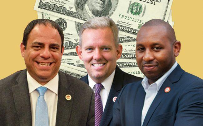 From left: Costa Constantinides, James Van Bramer and Donovan Richards (Credit: iStock)
