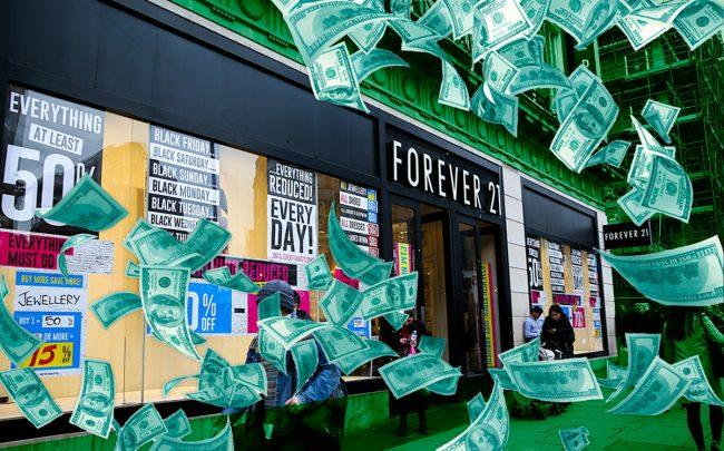 A Forever 21 location (Credit: Getty Images, iStock)