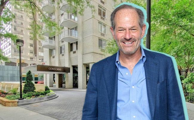 Eliot Spitzer and 220 E. 65th Street (Credit: Getty Images)