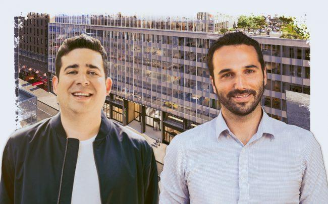 135 West 50th Street and Industrious co-founders Justin Stewart and Jamie Hodari