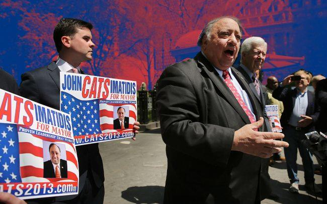 John Catsimatidis during his 2013 mayoral run (Credit: Getty Images)