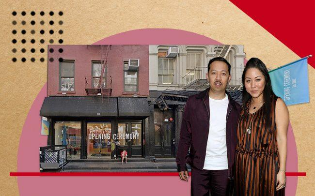 Opening Ceremony founders Humberto Leon and Carol Lim and the brand's Soho location at 35 Howard Street (Credit: Getty Images, Google Maps)