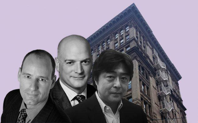 From left: Savanna's founding partners, Christopher Schlank and Nicholas Bienstock, Tokyo Trust Capital CEO Minoru Machida and 434 Broadway