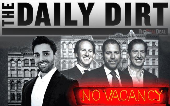 From left: Raphael Toledano and Madison Realty Capital managing principals Adam Tantleff, Josh Zegen and Brian Shatz (Illustration by Kevin Rebong for The Real Deal)