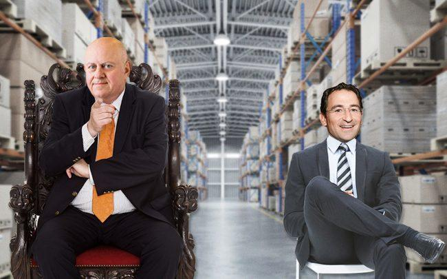 From left: Prologis CEO Hamid R. Moghadam and Blackstone's Jon Gray