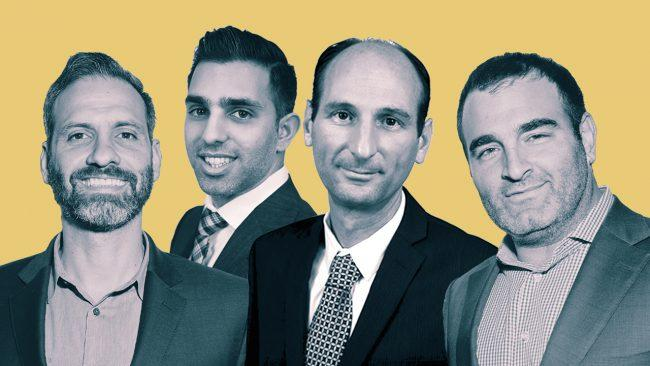 From left: Bond New York's Noah Freedman, Caliber's Levi Adir, Shai Gruber and Bond New York's Bruno Ricciotti (Credit: Caliber)