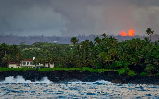 Fires from lava flows in 2018 (Photo by Don Smith/Getty Images)