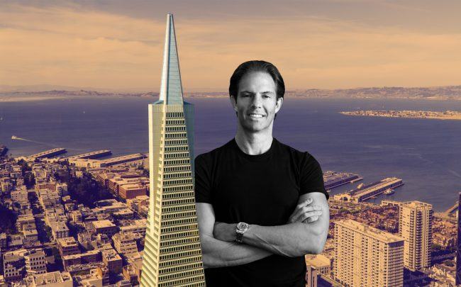 The Transamerica Building in San Francisco and Michael Shvo (Credit: iStock)