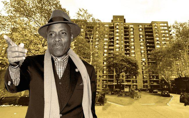 City Council member Bill Perkins and Lenox Terrace 484 Lenox Avenue (Credit: Getty Images and Google Maps)