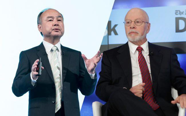 Softbank CEO Masayoshi Son and Elliott Management Corp. CEO Paul Singer (Credit: Getty Images)