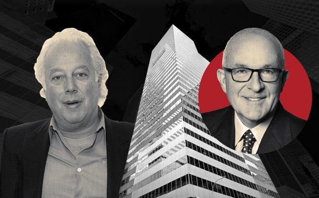 RFR Realty's Aby Rosen, 900 Third Avenue, and Paramount's Albert behler (Credit: Getty Images, Google Maps)