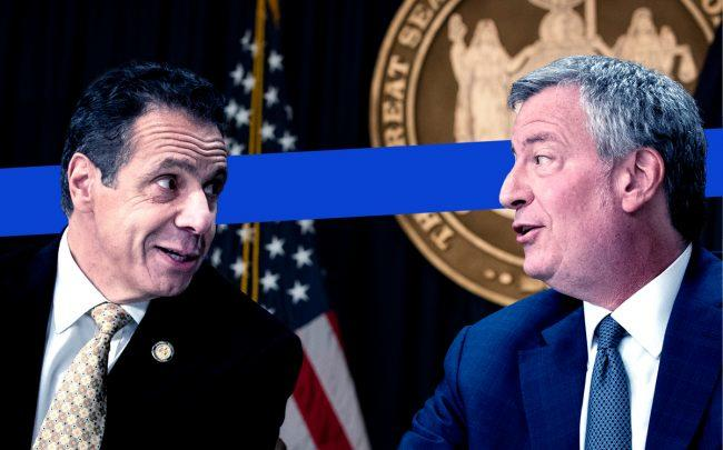 Governor Andrew Cuomo and Mayor Bill de Blasio (Credit: Getty Images)
