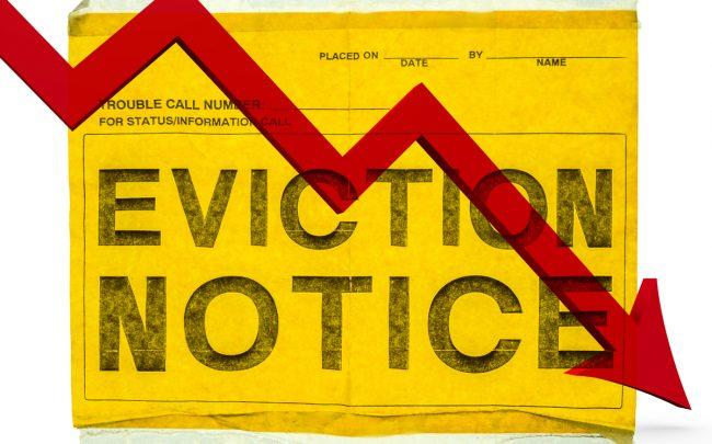 Evictions are going down in parts of the city where Right to Counsel applies, sparking a push to expand the law. (Credit: iStock)