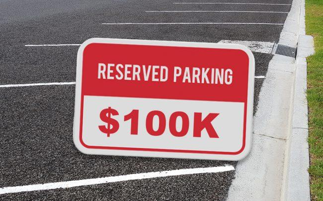 San Francisco has a $100,000 parking spot