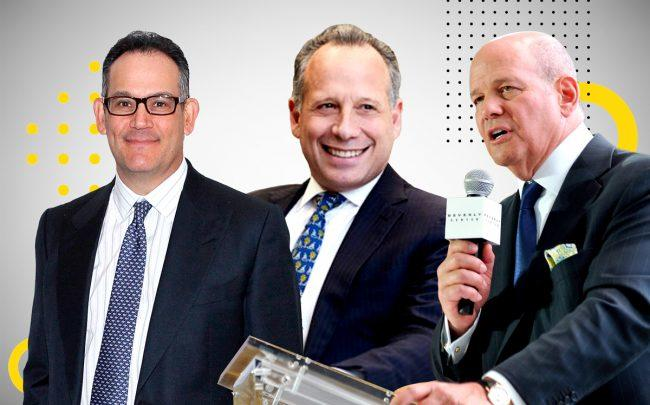 David Simon of Simon Property Group, Land & Buildings Investment Mangement founder Jonathan Litt and Robert Taubman of Taubman Centers (Credit: Getty Images)