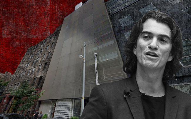 Selina Hotel at 516- 518 West 27th Street and Adam Neumann (Credit: Google Maps, Getty Images)