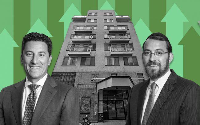 159-161 Bleecker Street and Meridian Investment Sales' David Schechtman and Lipa Lieberman (Credit: Google Maps)