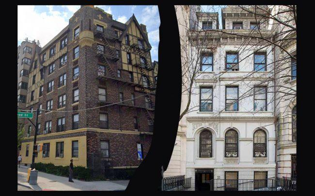 1515 Grand Concourse and 16 East 82nd Street (Credit: Google Maps, 16 East 82nd Street via Leslie J. Garfield)