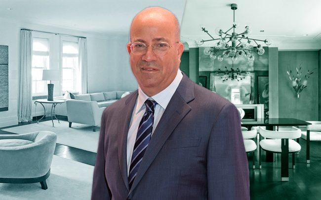 Jeff Zucker and 32 East 64th Street, Apt 3W (Credit: Getty Images)