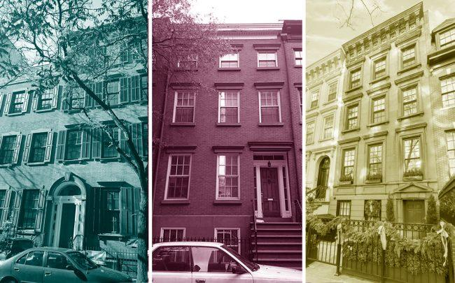 From left: 116 Sullivan Street, 109 Bank Street and 158 East 81st Street