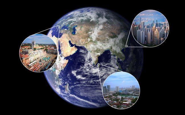 Clockwise from right: Hong Kong; Columbo, Sri Lanka; and Zagreb, Croatia (Credit: Wikipedia, iStock)