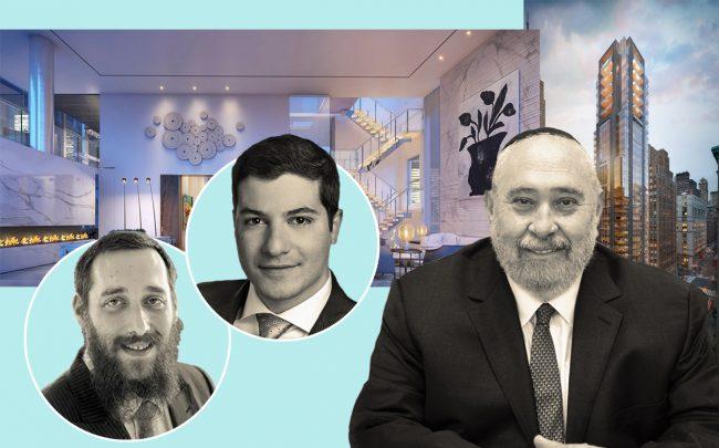 From left: Keller Williams NYC's Efraim Tessler and Raphael Sitruk, Yitzchak Tessler and 172 Madison Avenue (Credit: 172 Avenue, NCM USA)