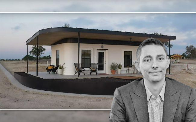 Icon's Jason Ballard and the welcome center at Community First Village