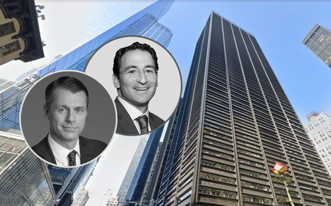 Brookfield Property Group's Brian Kingston, Blackstone Group's Jonathan Gray and 1 Liberty Plaza (Credit: Google Maps)