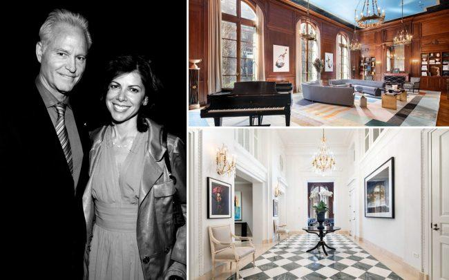 Dennis and Karen Mehiel with 3 East 95th Street (Photo by Will Ragozzino/Patrick McMullan via Getty Images; Sotheby's)