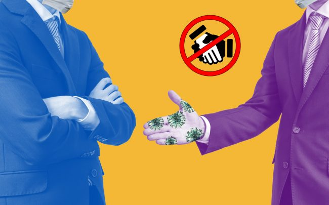 Real estate professionals say they are not shaking hands amid the coronavirus outbreak. (Credit: iStock)