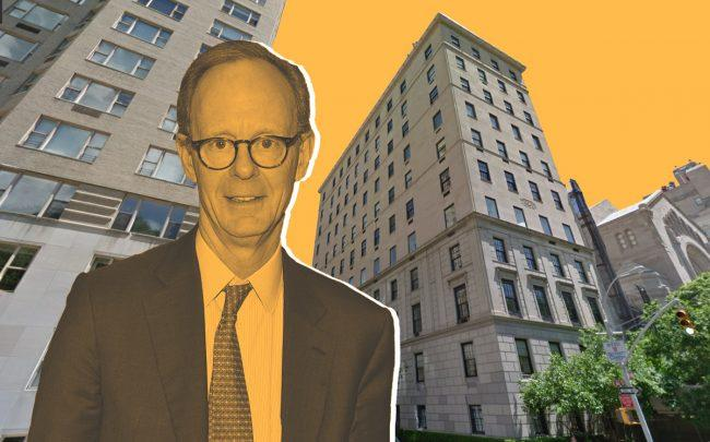 The Fifth Avenue and East 66th Street apartment and J. Christopher Flowers (Credit: Getty Images)