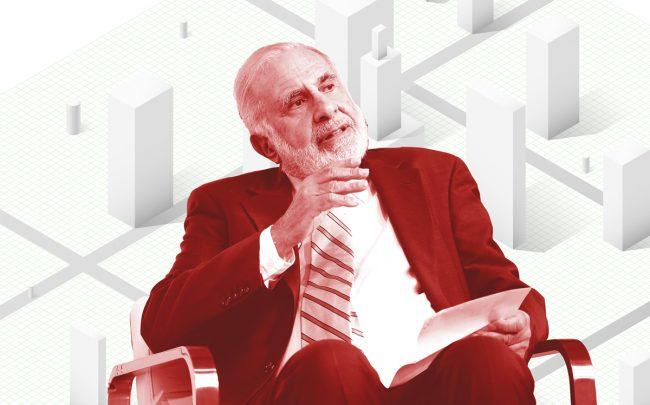 Carl Icahn (Credit: Icahn by Neilson Barnard/Getty Images for New York Times; iStock)