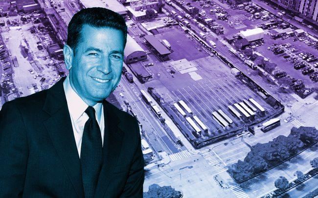 Georgetown president and CEO Adam Flatto and an aerial of 260 12th Avenue (Credit: Patrick McMullan/Patrick McMullan via Getty Images; Google Maps)