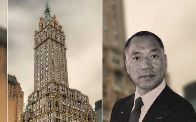Sherry-Netherland Hotel at 781 Fifth Avenue and Guo Wengui (Credit: iStock)