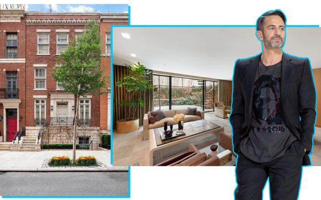 Marc Jacobs with 68 Bethune Street (Credit: Jacobs by Randy Brooke/WireImage; Townhouse by Nest Seekers via StreetEasy)