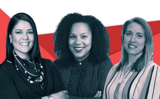 Sandhya Espitia, Beth Miller and Mckenna Warren (Credit: REBNY)